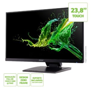 """Monitor Acer 23,8"""" UT241Y FHD Touch VGA+HDMI 75Hz 4ms IPS - UM.QW1AA.003"""